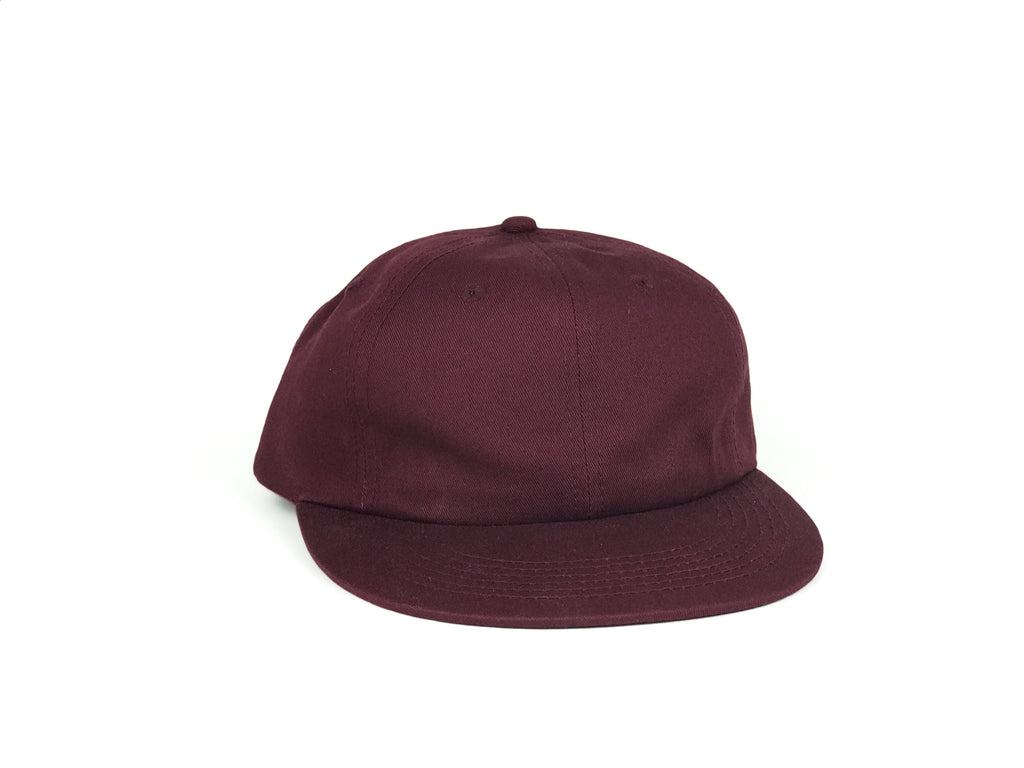 Cotton UFB (Unconstructed Flat Brim) - Wine