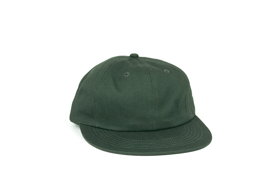 Cotton UFB (Unconstructed Flat Brim) - Forest Green