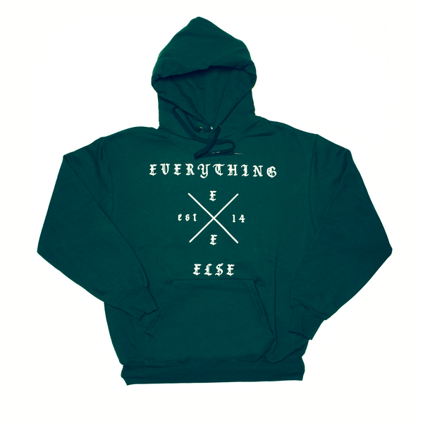 Everything Else ) Cross Hoodie ( Botanical Green )