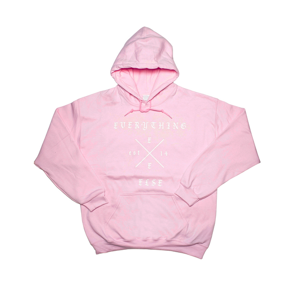 Everything Else - Cross hoodie ( Light Pink )