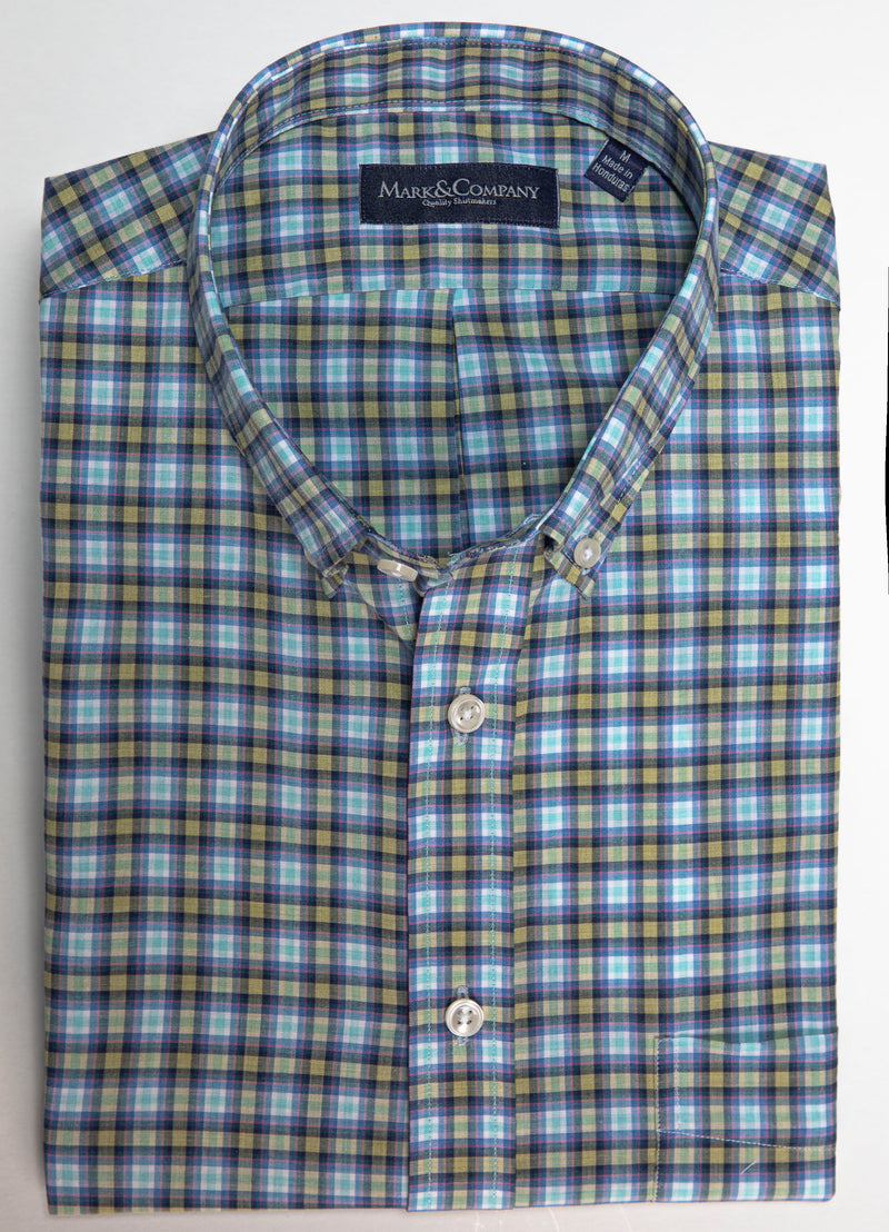 Multicolor Tartan Plaid Button Down Shirt