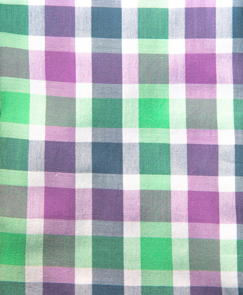 Purple, Green and Blue Tartan Plaid Button Down Shirt