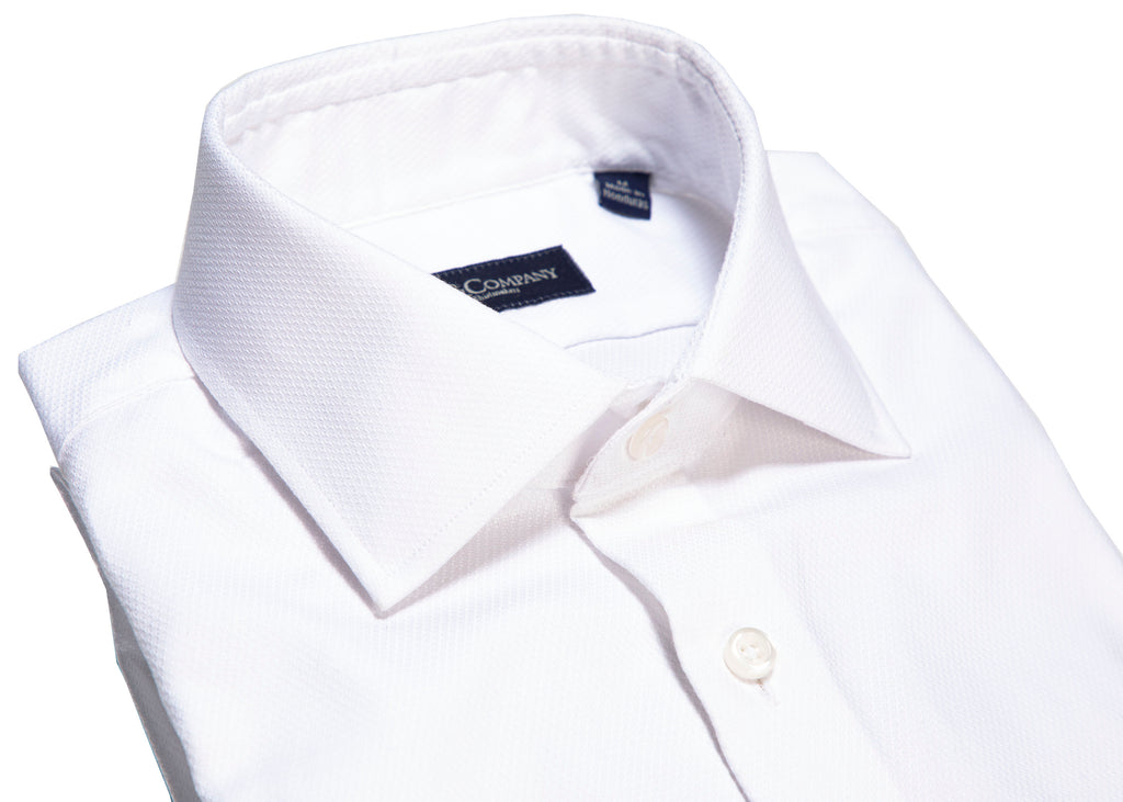 White Royal Oxford Spread Collar Dress Shirt