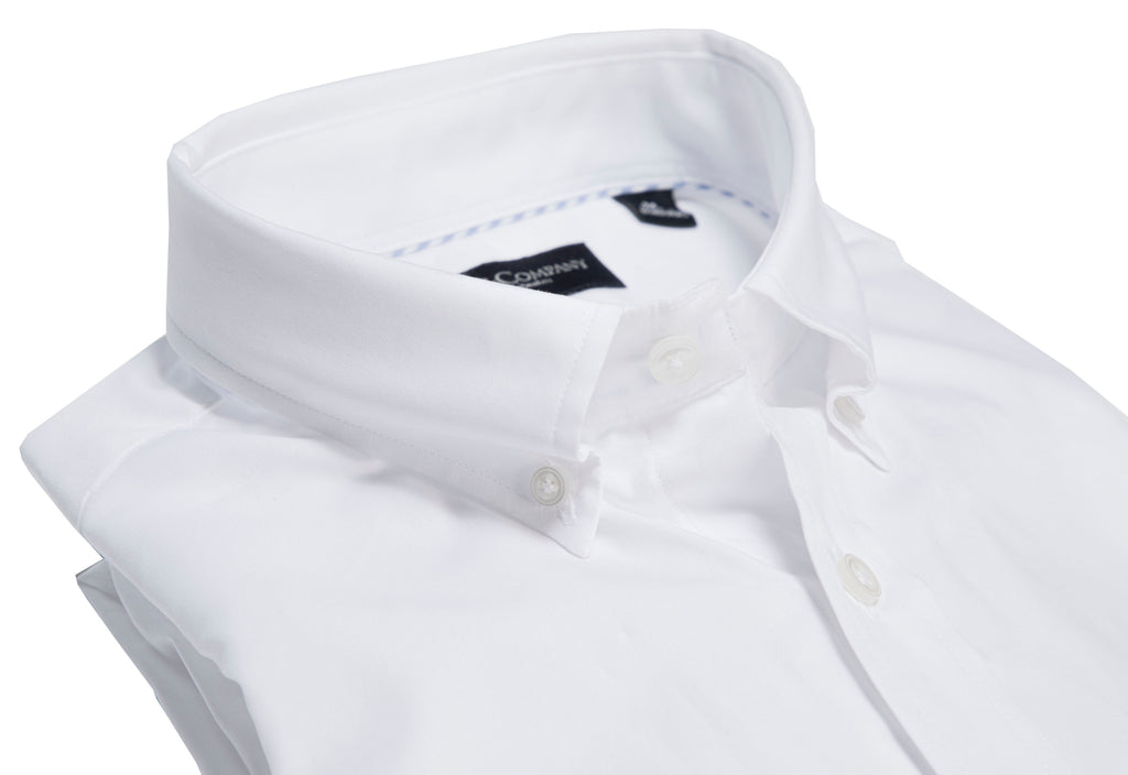 White Pinpoint Cotton Button Down Classic Shirt