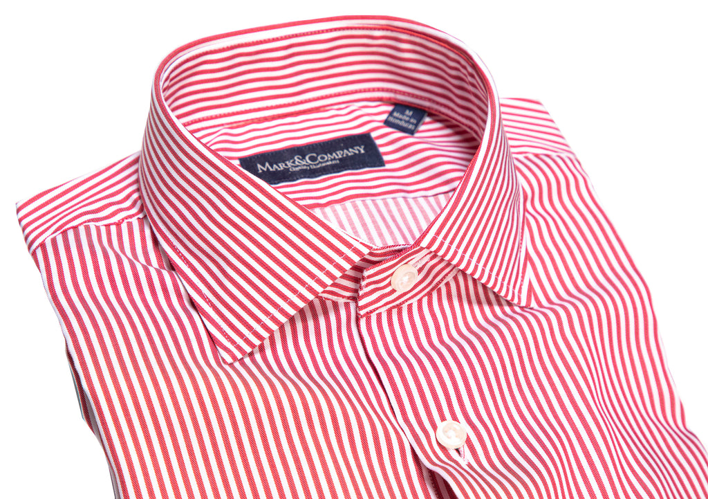 Crimson Red Pinstripe Classic Shirt