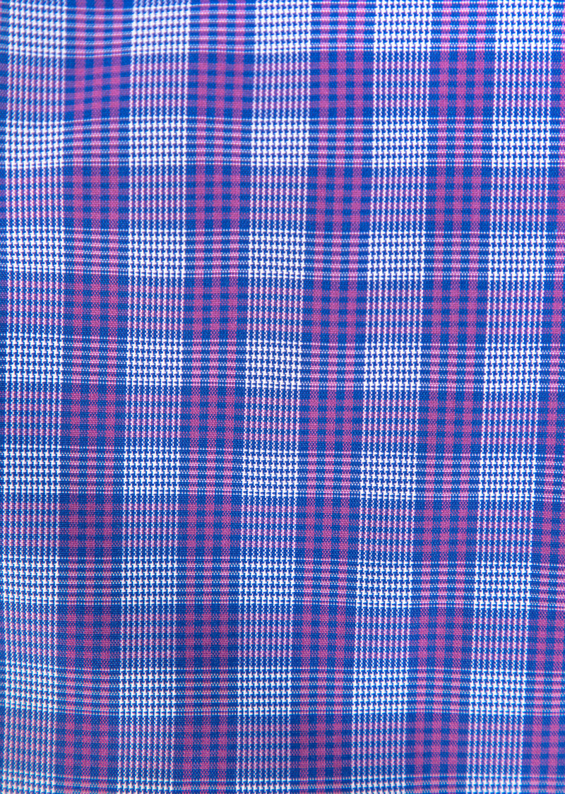 Pink and Blue Glen Plaid Classic Shirt