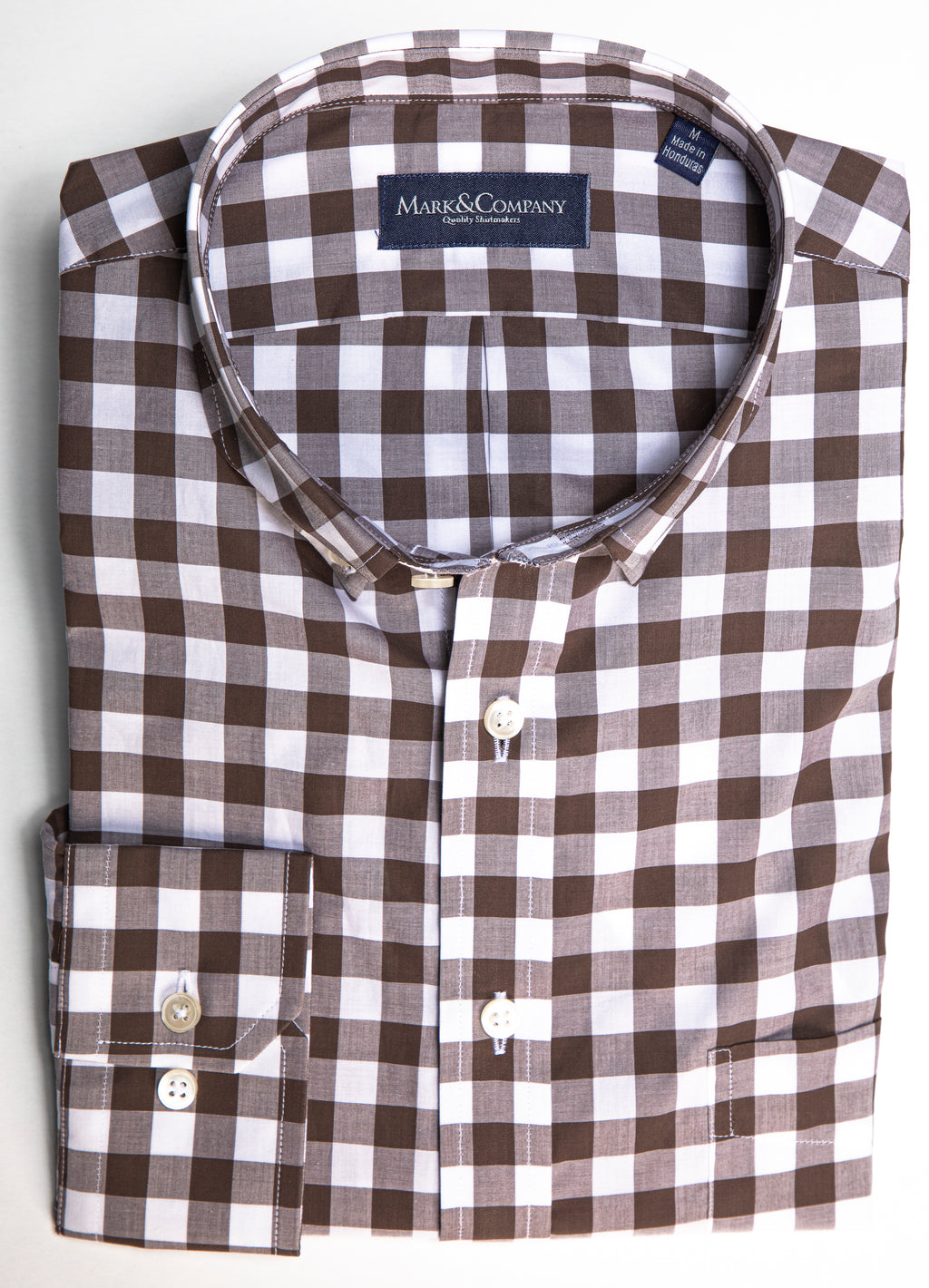 Expresso Brown Buffalo Check Button Down Shirt