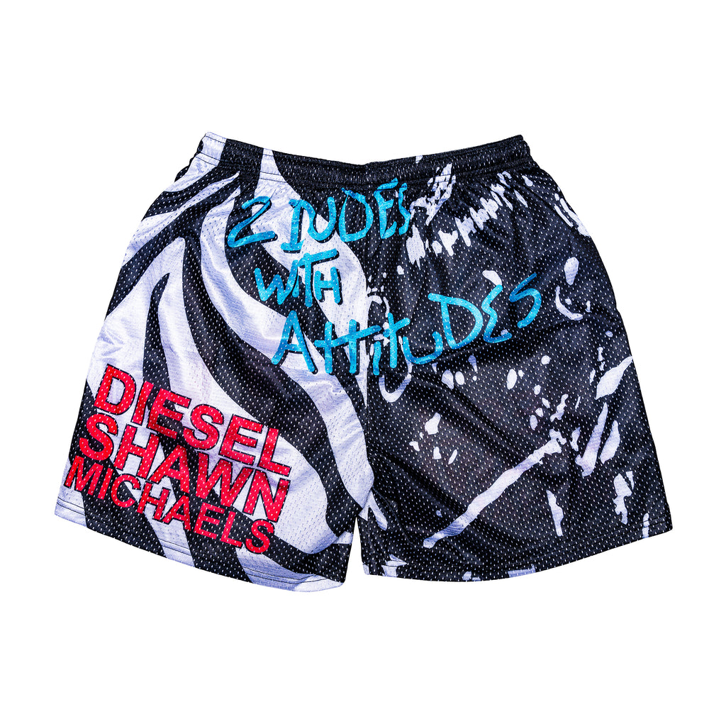 Two Dudes with Attitudes Retro Shorts