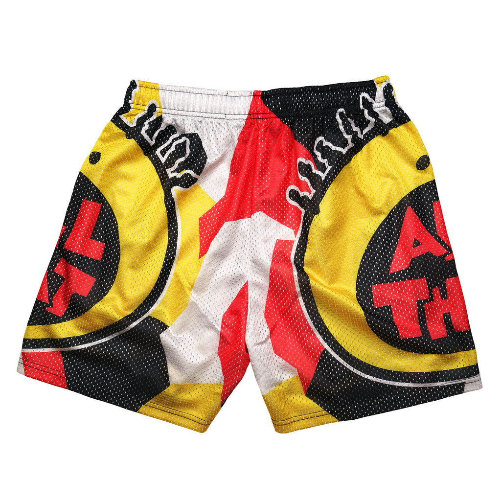 All That Yellow & Red Retro Nickelodeon Mesh Shorts