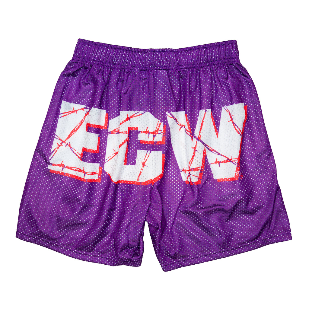 Purple ECW Retro Logo Shorts