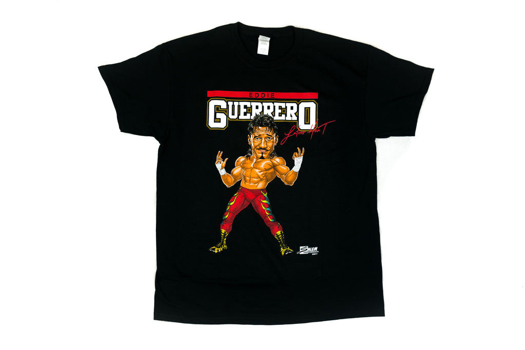 WWE  Eddie Guerrero Illustrated Salem Sportswear Black T-Shirt