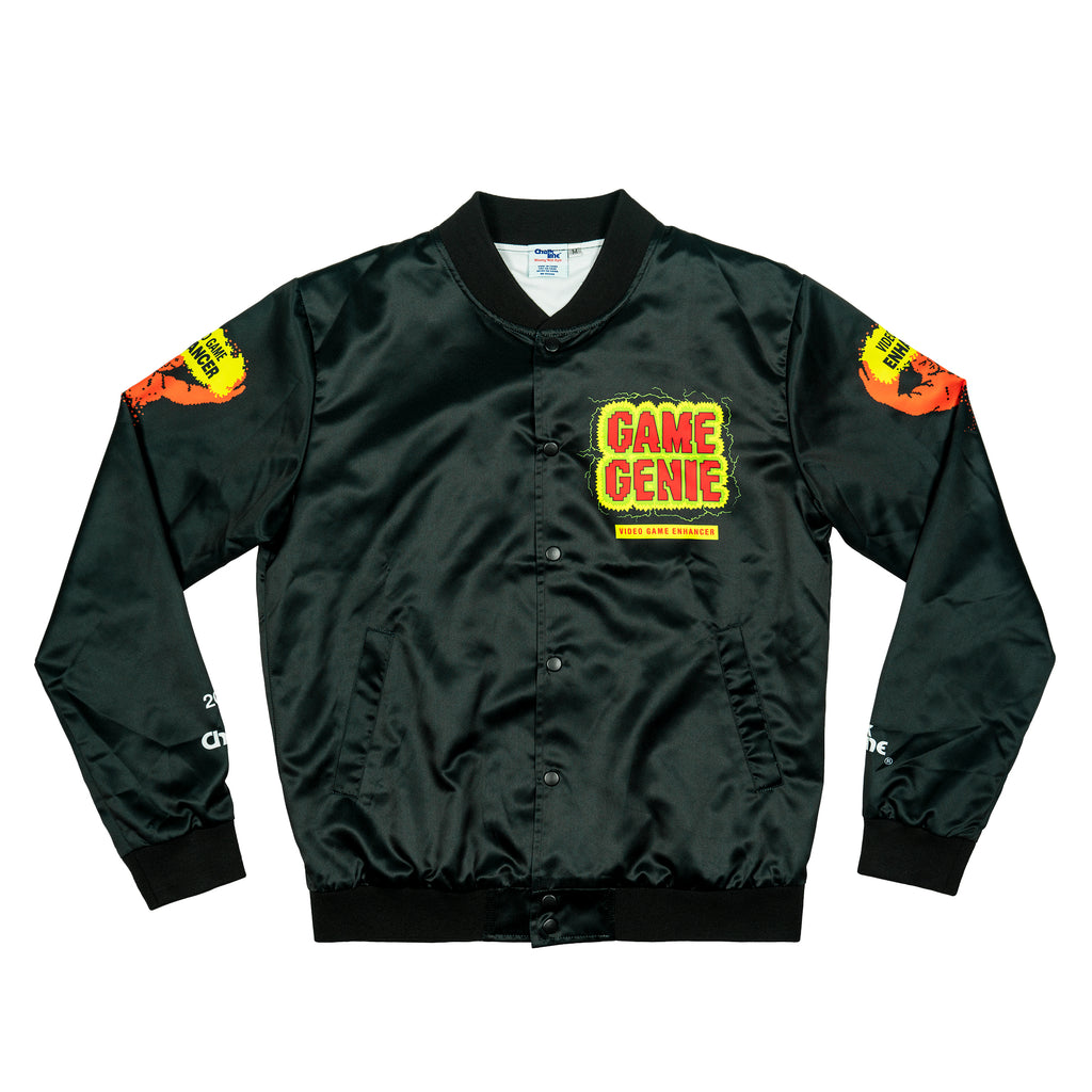 Game Genie Black Satin Logo Jacket