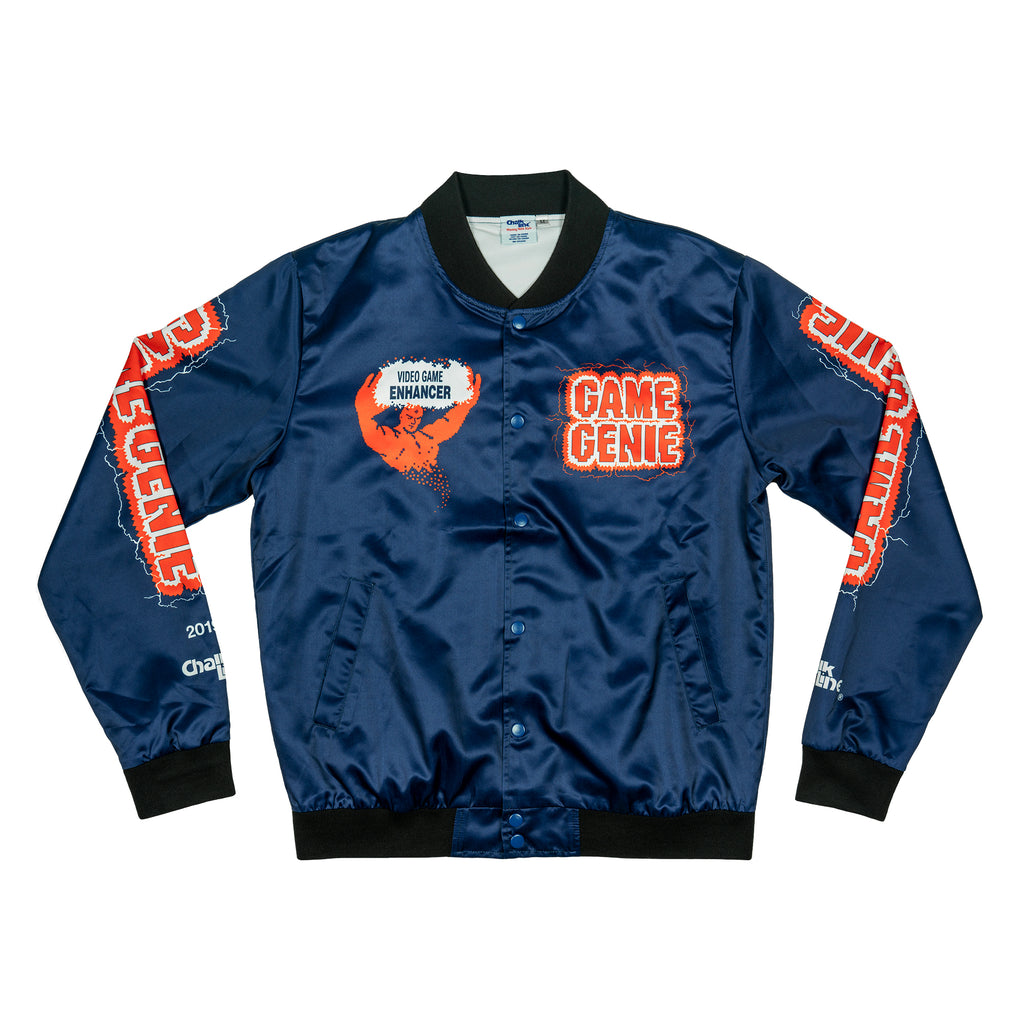 Game Genie Blue Satin Logo Jacket