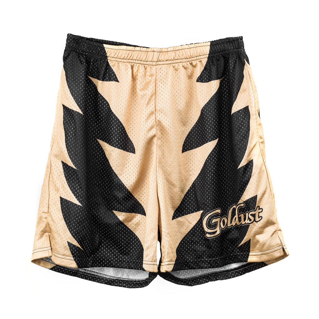 WWE Goldust Black/Gold Mesh Shorts