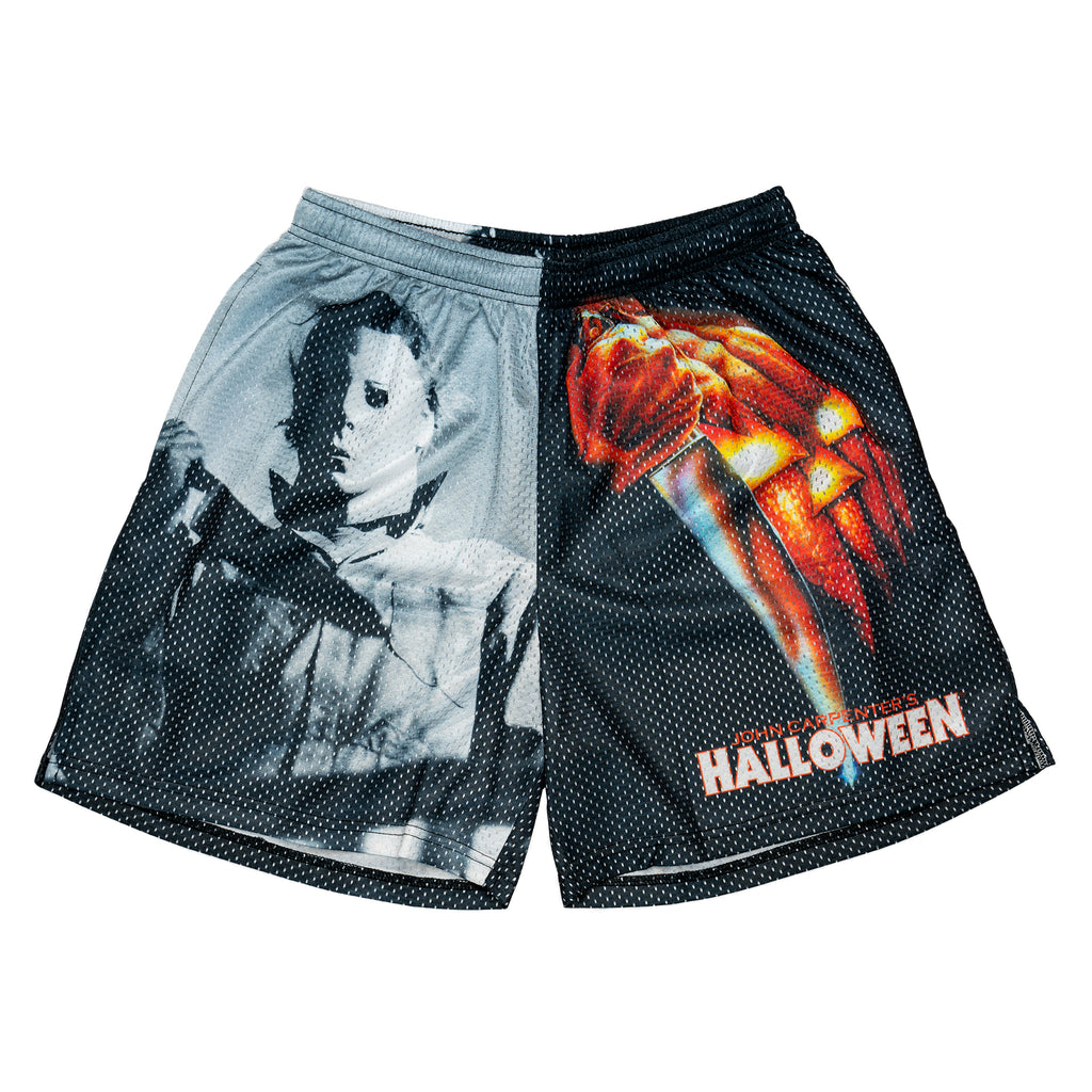 Halloween Split Logo Retro Shorts