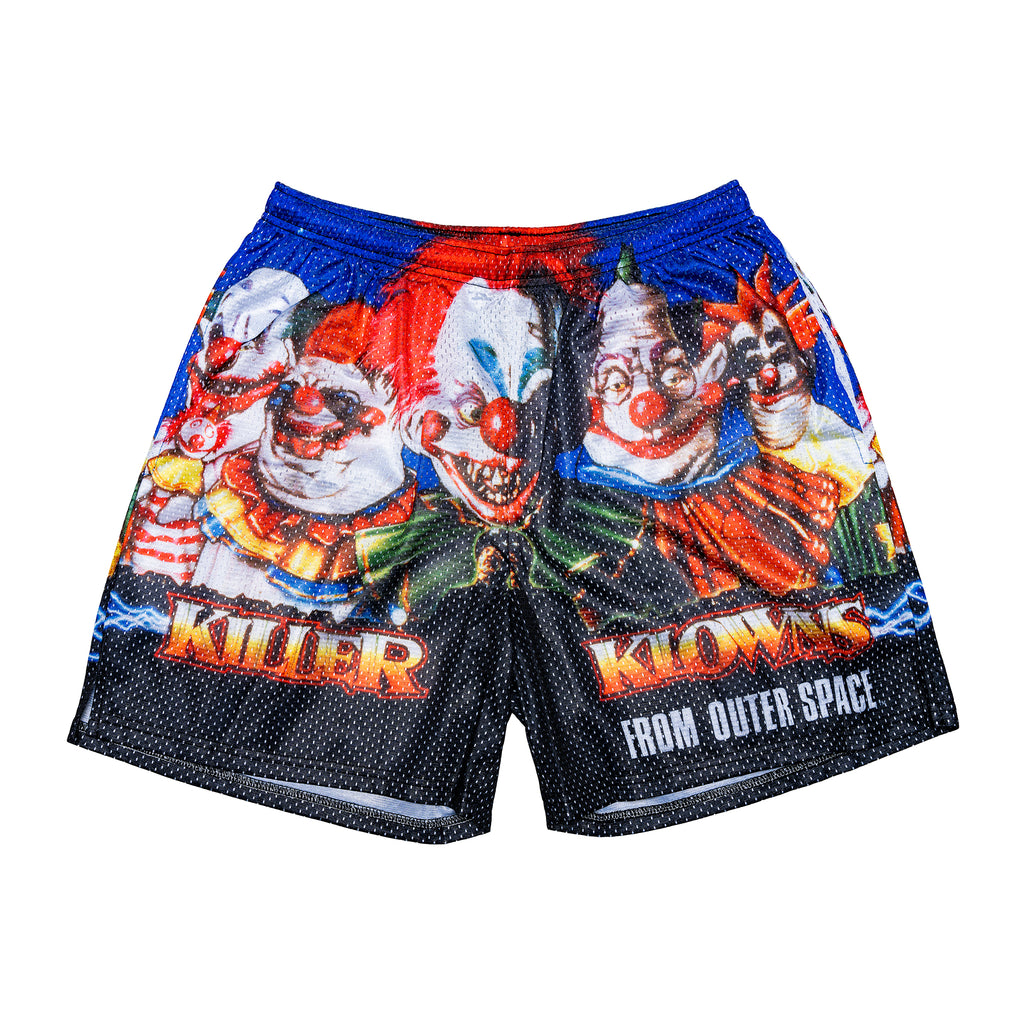 Killer Klowns Retro Poster Shorts