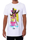 WWE Retro Macho Man Illustrated Salem Sportswear White T-Shirt