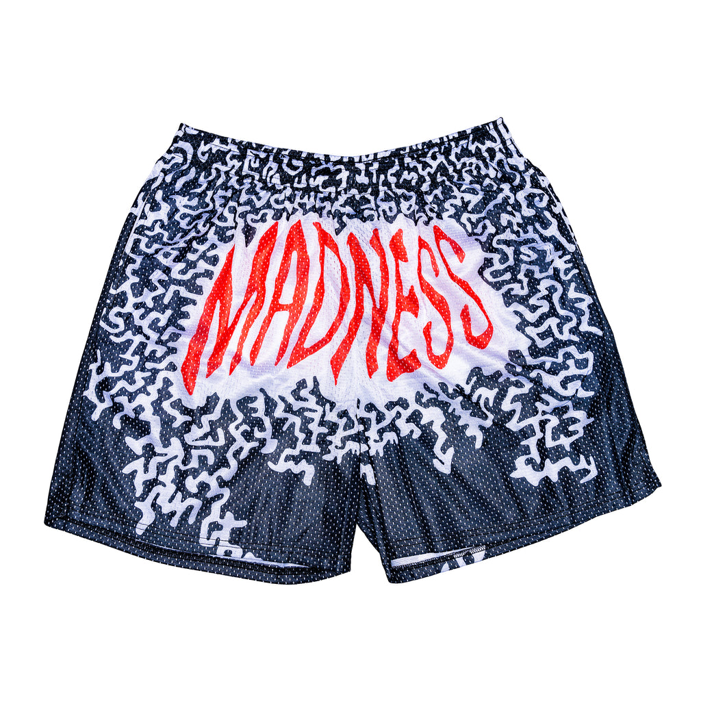 Macho Madness Black/White/Red Mesh Shorts