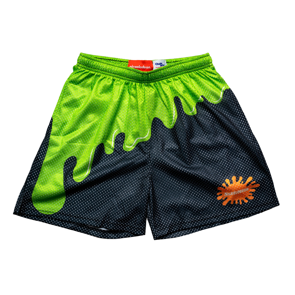 Black Slime Retro Nickelodeon Mesh Shorts