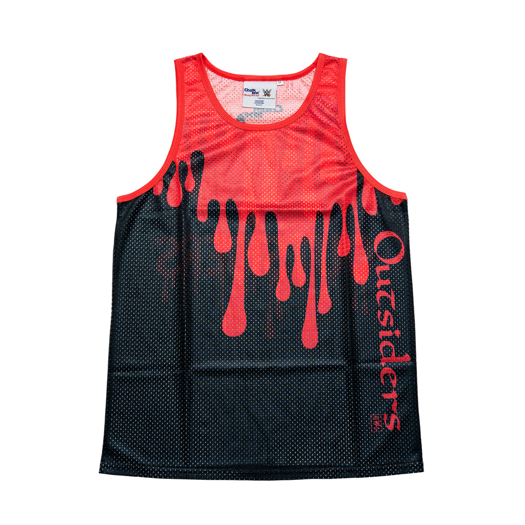Outsiders Black/Red Retro Drip Tank