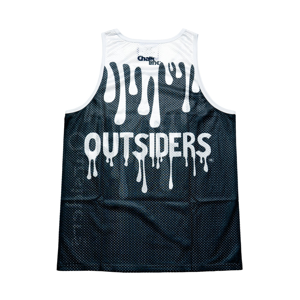 Outsiders Black/White Retro Drip Tank