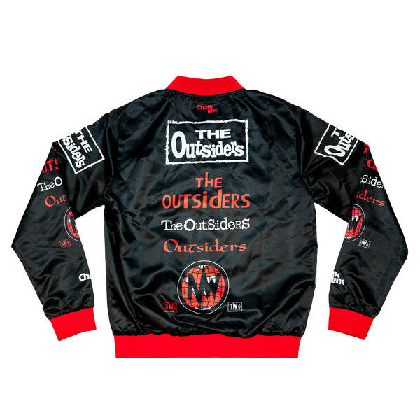 Outsiders Satin All Over Logo Jacket