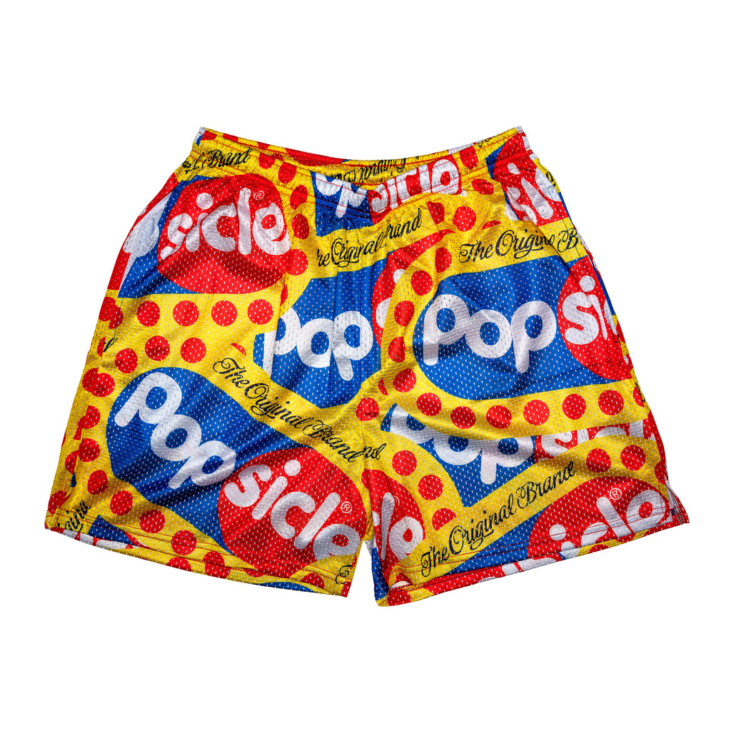 Popsicle Retro All Over Logo Shorts