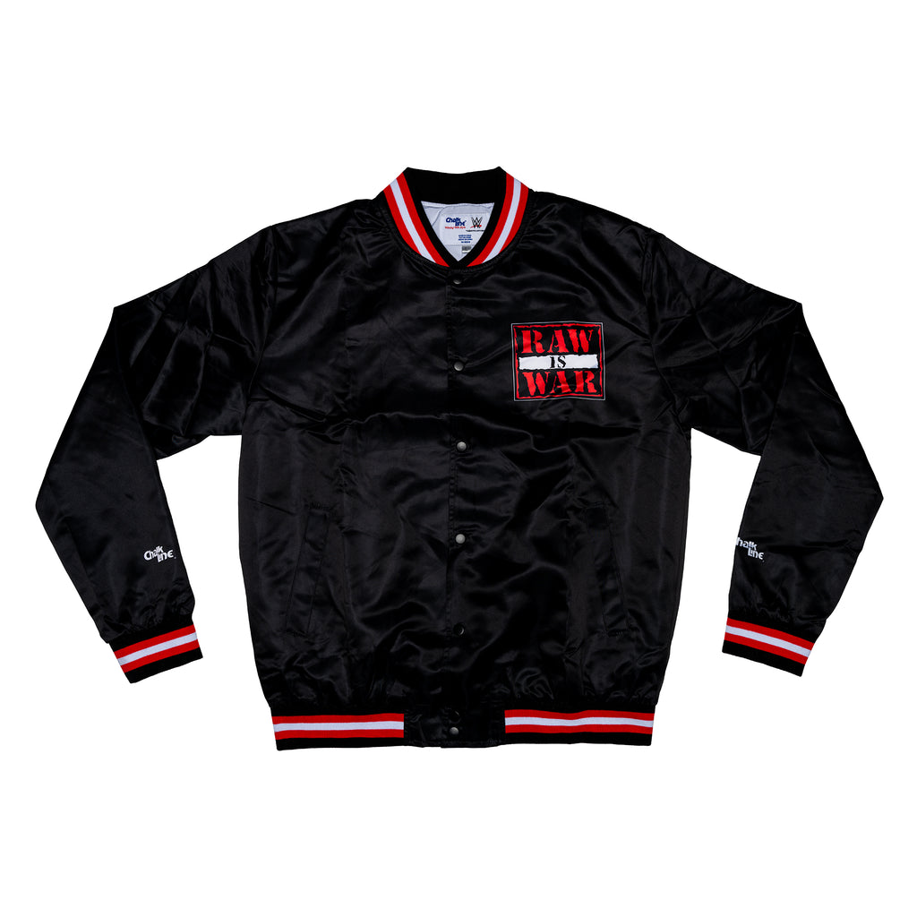 Raw Is War Retro Satin Logo Jacket
