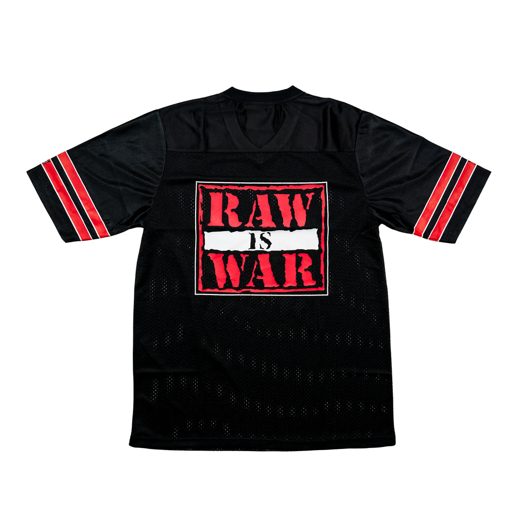 Raw Is War Retro Logo Football Jersey