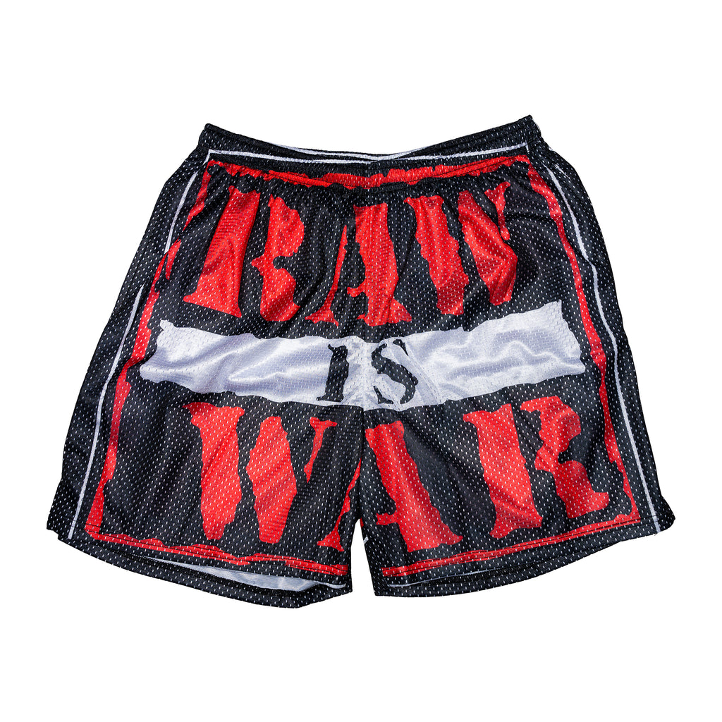 Raw Is War Mesh Retro Logo Short