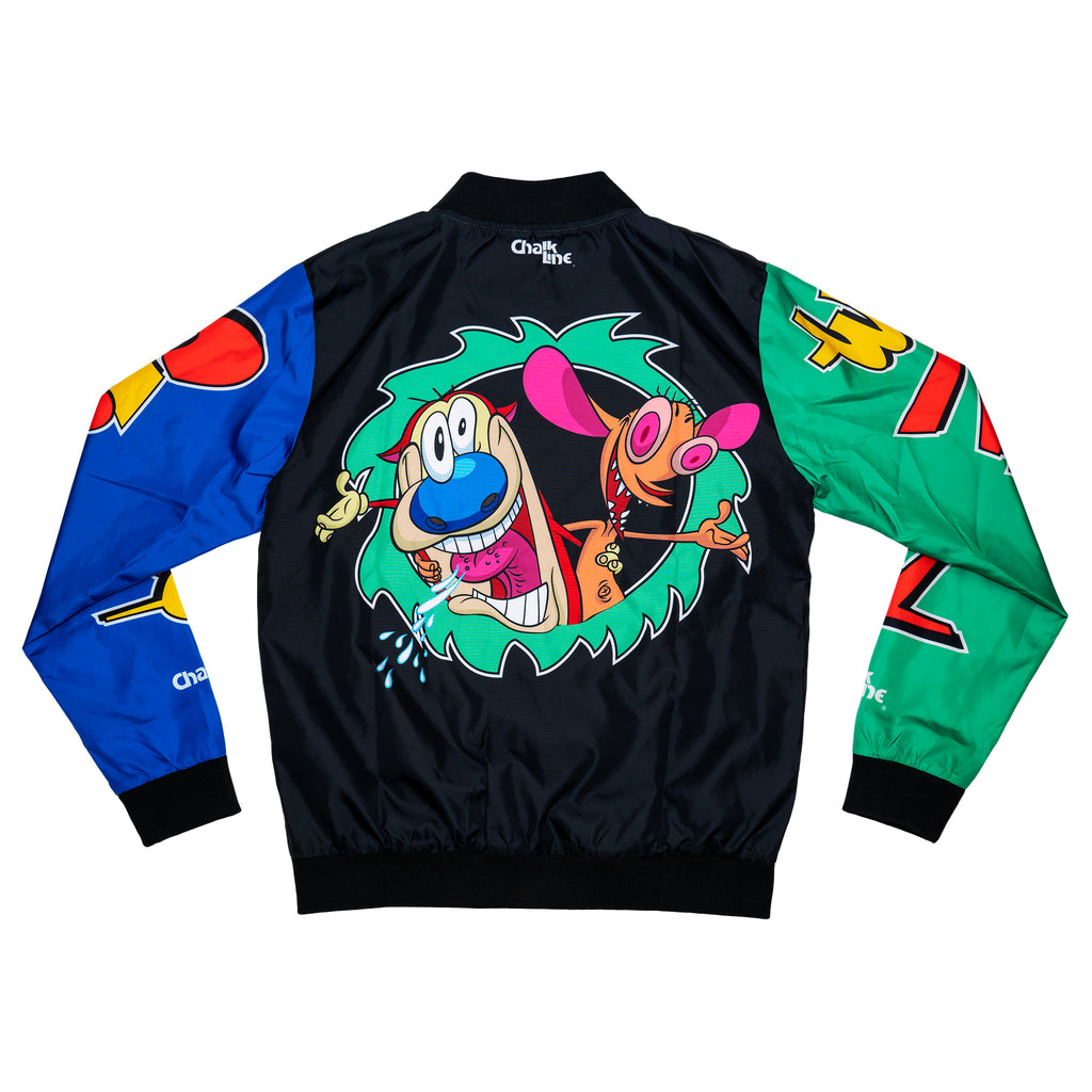 Ren & Stimpy Black Retro Fanimation Jacket