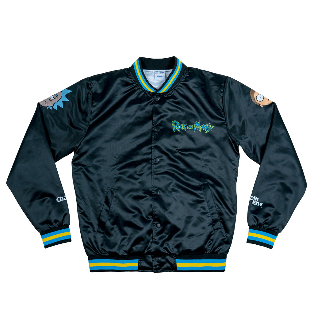 Rick & Morty Black Satin Jacket