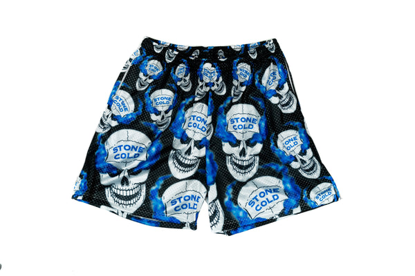 Stone Cold All Over Logo Mesh Shorts