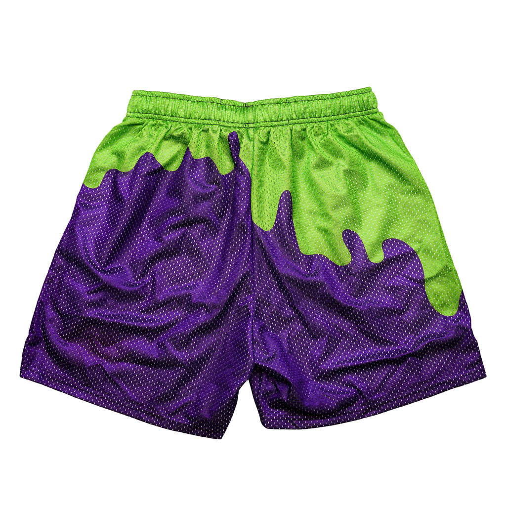 Purple Slime Retro Nickelodeon Mesh Shorts