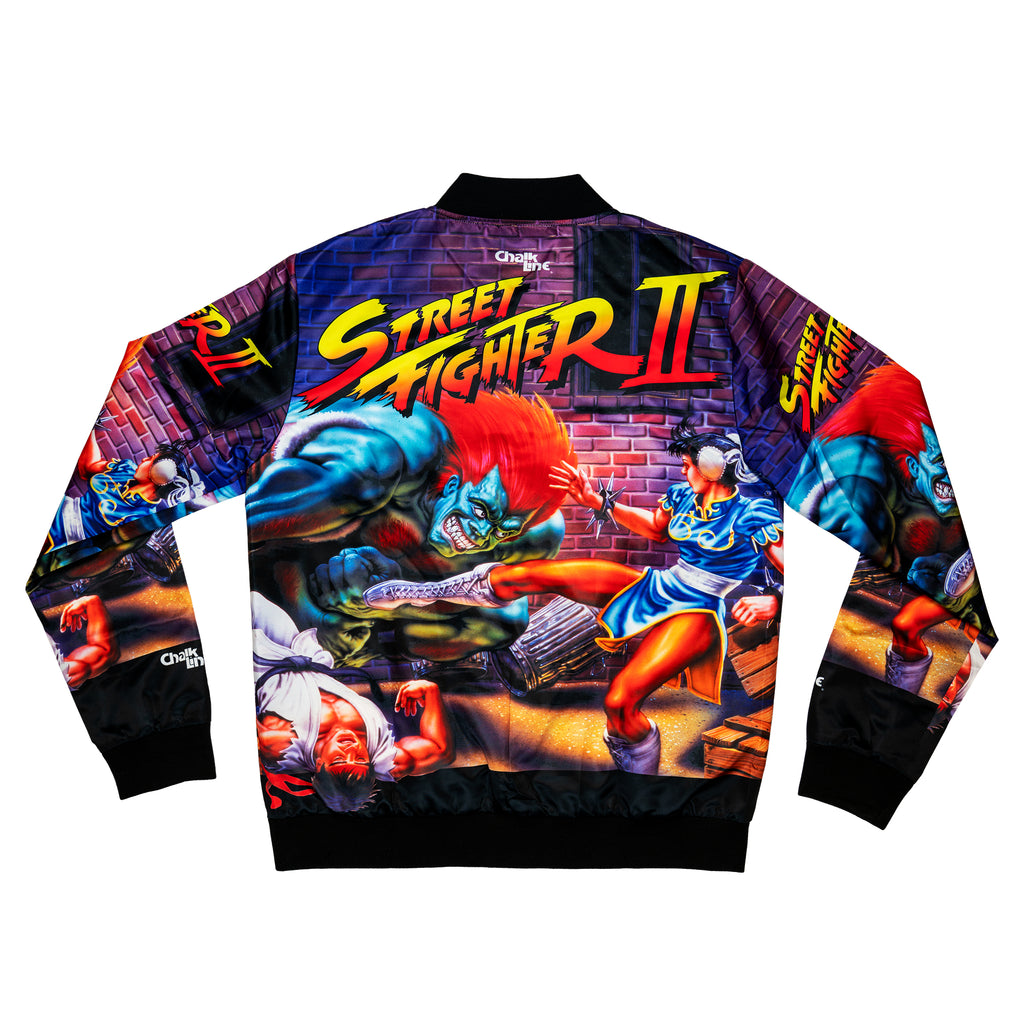Street Fighter 2 Retro AOP Satin Jacket