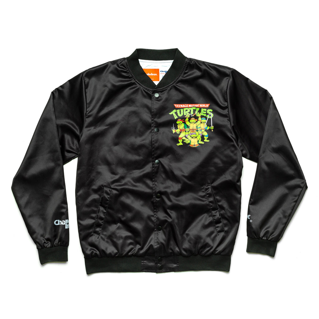 TMNT Retro Nickelodeon Black Satin Jacket