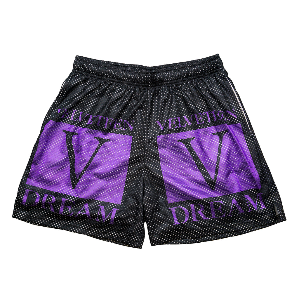 Velveteen Dream Mesh Logo Shorts