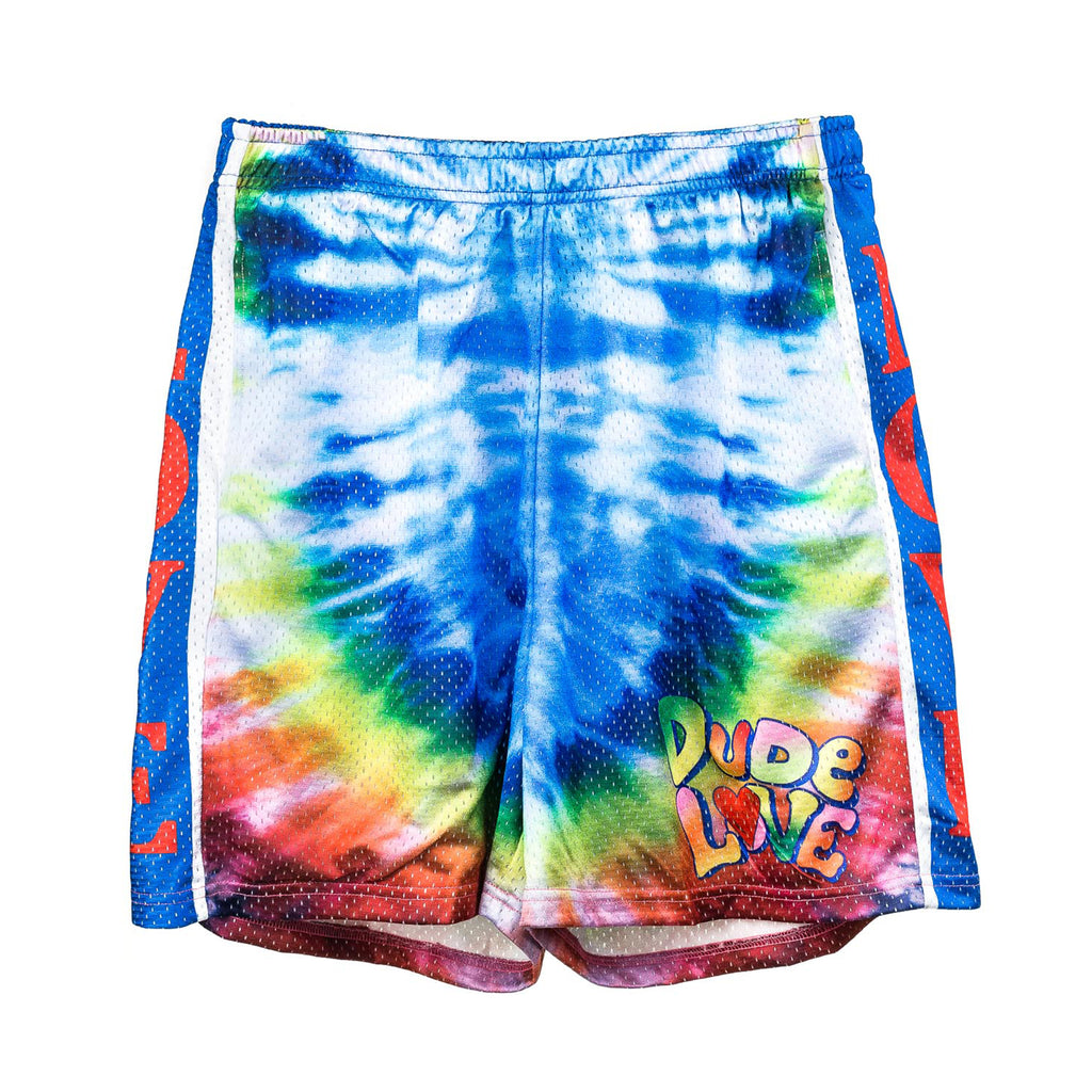 WWE Dude Love Tie Dye Mesh Shorts