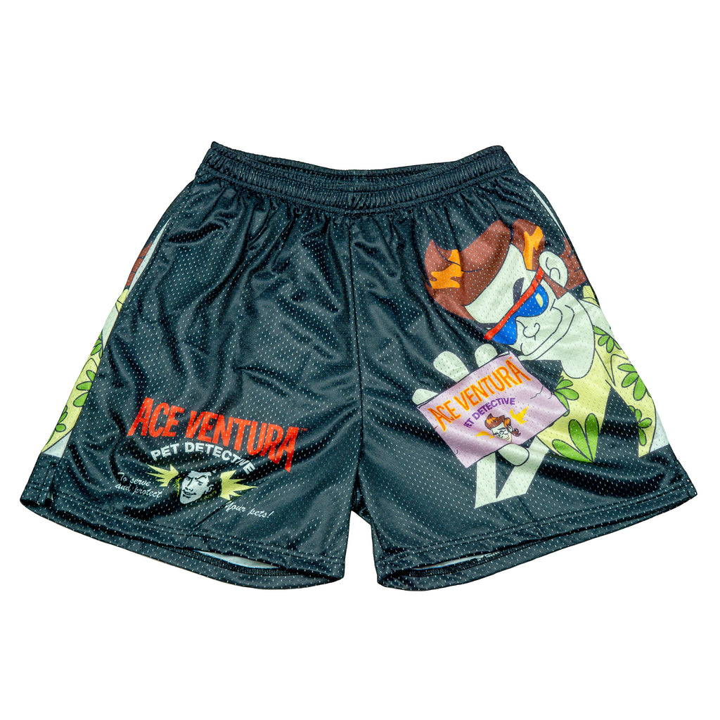 Ace Ventura Black Cartoon Mesh Shorts