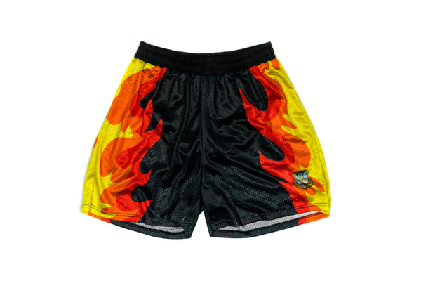 WWE Bam Bam Bigelow Flame Mesh Shorts
