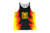 WWE Bam Bam Bigelow Flame Tank Top