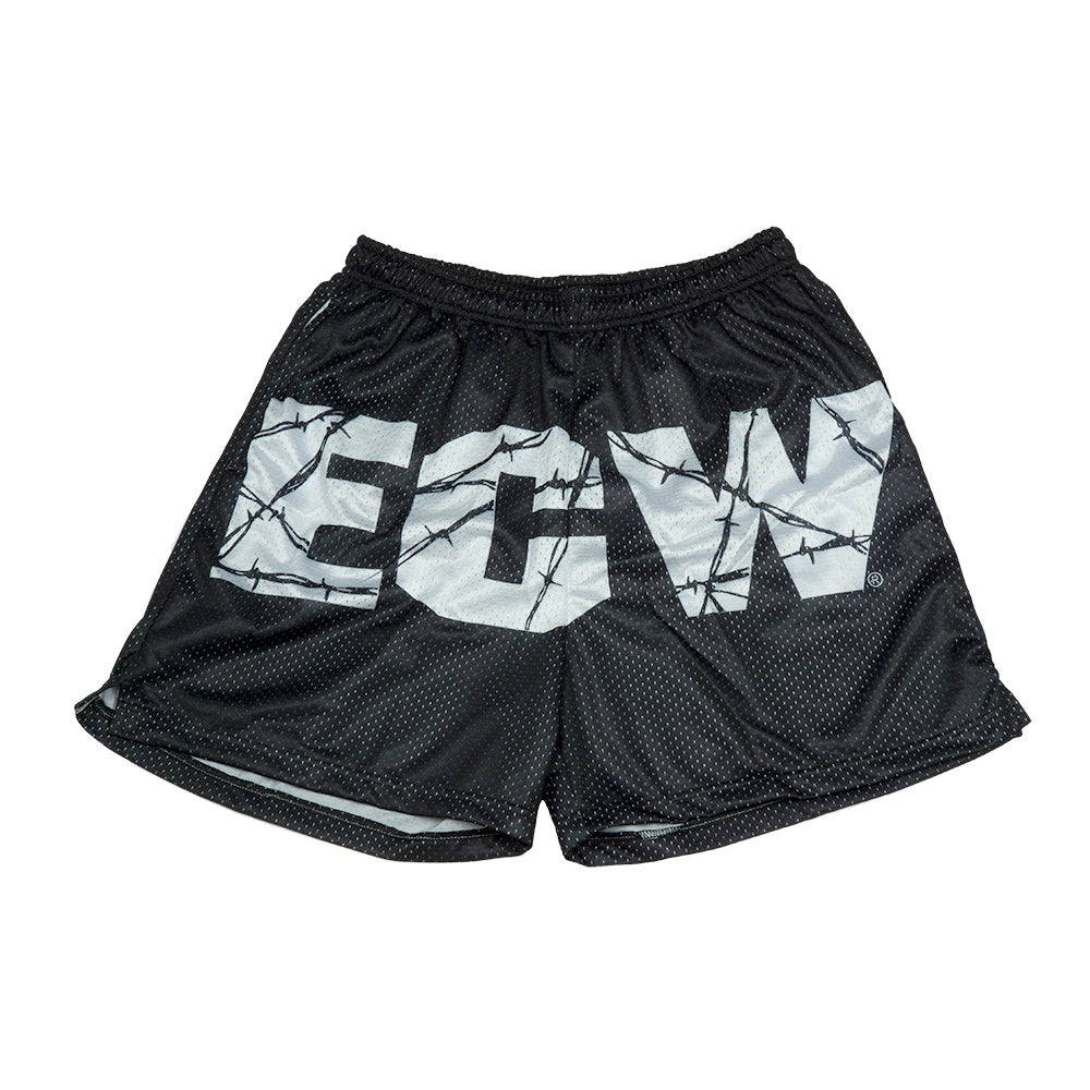 ECW Black Mesh Logo Short