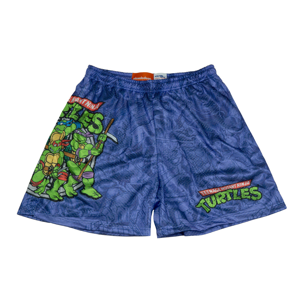 Purple All Over Print TMNT Mesh Short