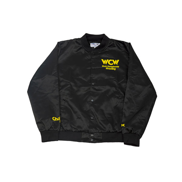 WCW Black/Yellow Satin Jacket