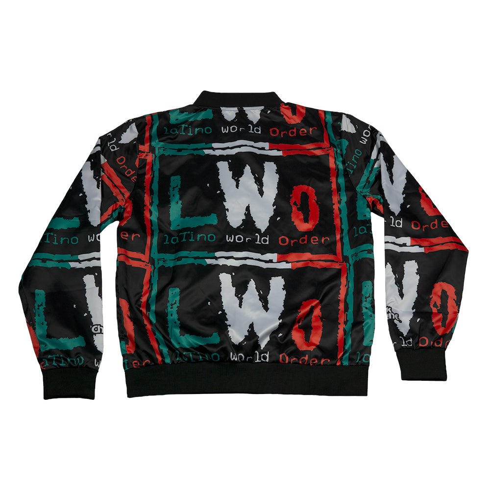 LWO All Over Print Satin Entrance Jacket