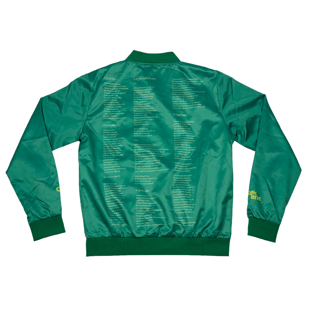Cormega x Chalk Line Green Satin Jacket
