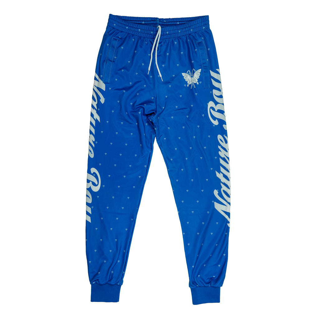 "Ric Flair ""Nature Boy"" Blue Retro Track Pants"
