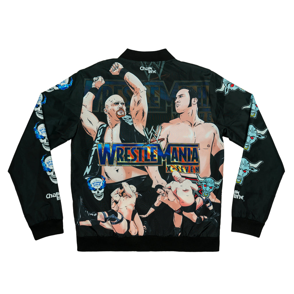 The Rock vs Stone Cold Rivalry Fanimation Jacket