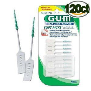 GUM Soft Picks Interdental Cleaner 120 count pack