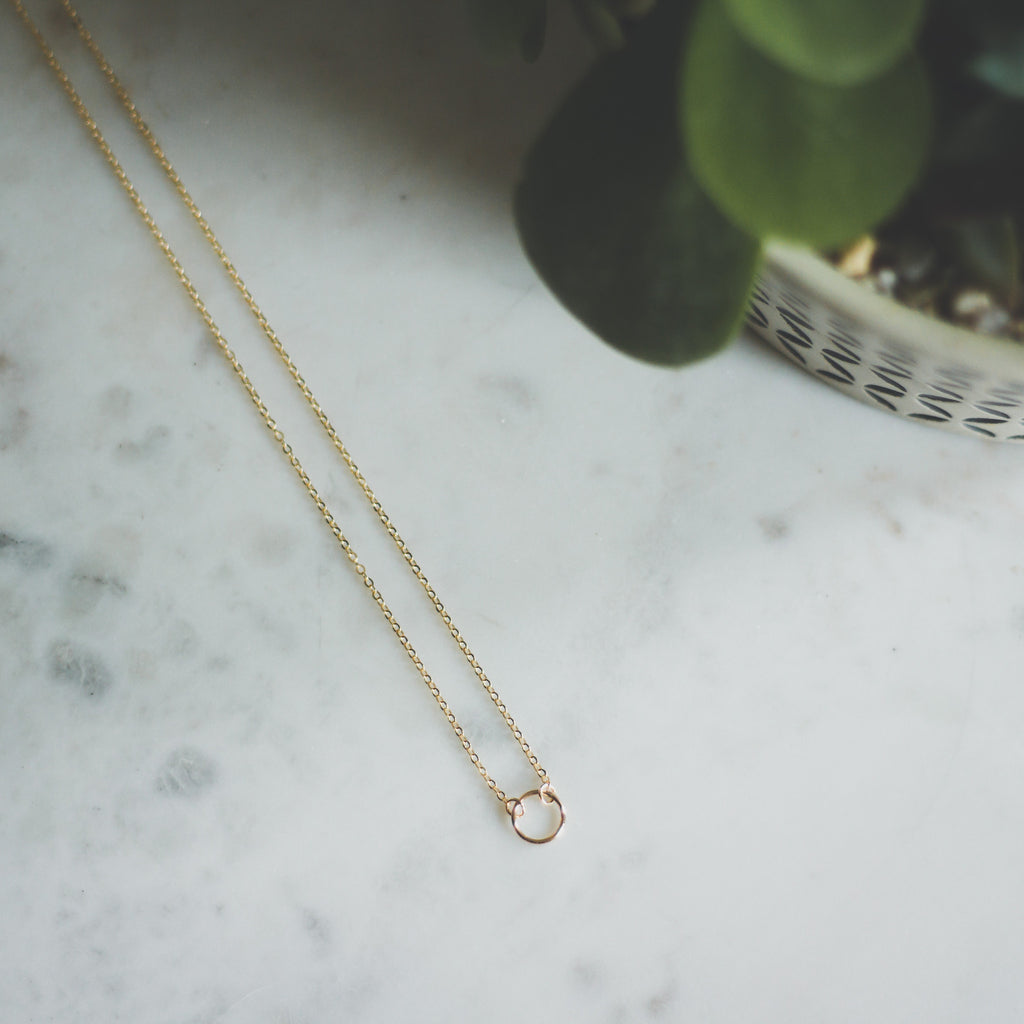 The Classic Hoop Necklace